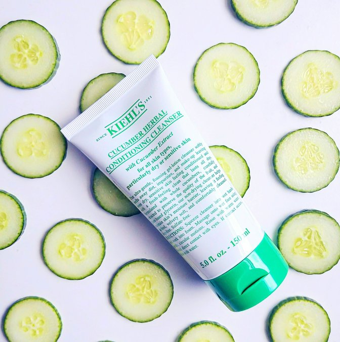 New Cucumber Herbal Conditioning Cleanser at Kiehl's, and DIY Cucumber Inspired Mask